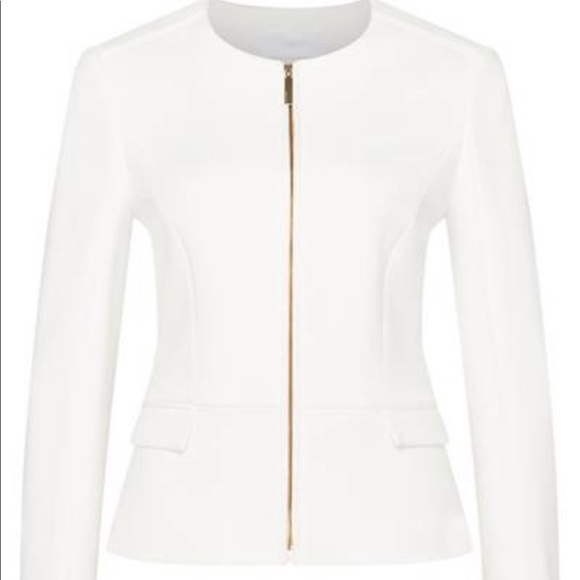 af8bd0ef Hugo Boss Jackets & Coats | Karletha Boss White Jacket With Gold ...